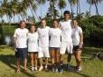 Tenistas plantam árvores no Correios Brasil Master Cup