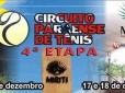 Inscrições abertas para a etapa final do Circuito Paraense de Tênis