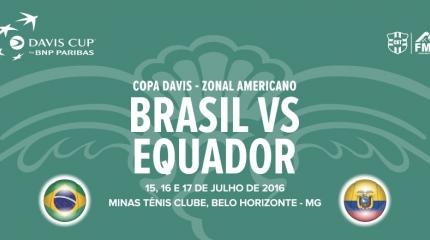 Credenciamento aberto para a Copa Davis Brasil x Equador em Belo Horizonte