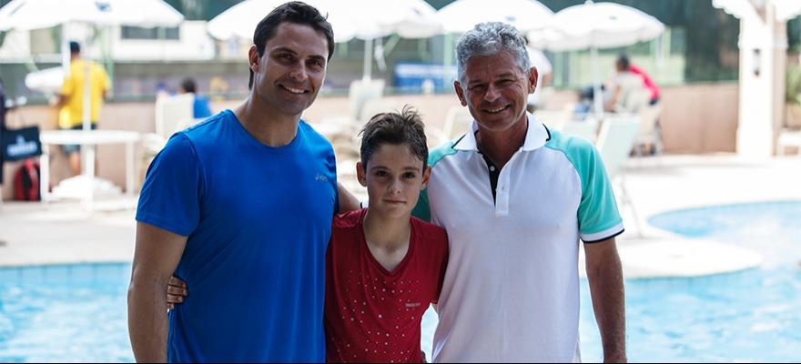 Davi segue os passos do pai, Marcos Daniel, ao vencer nos 10 anos na Gerdau