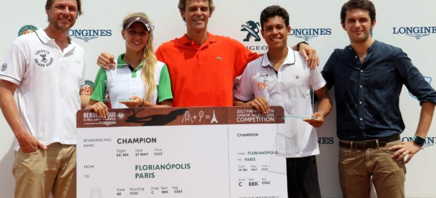 João Ferreira e Nathalia Gasparin conquistam Rendez-Vous à Roland-Garros
