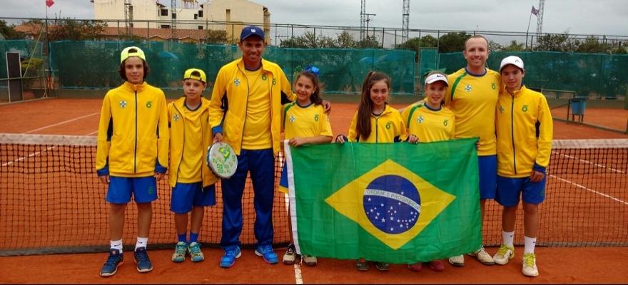 Brasil vence no masculino e feminino no Sul-Americano 12 anos