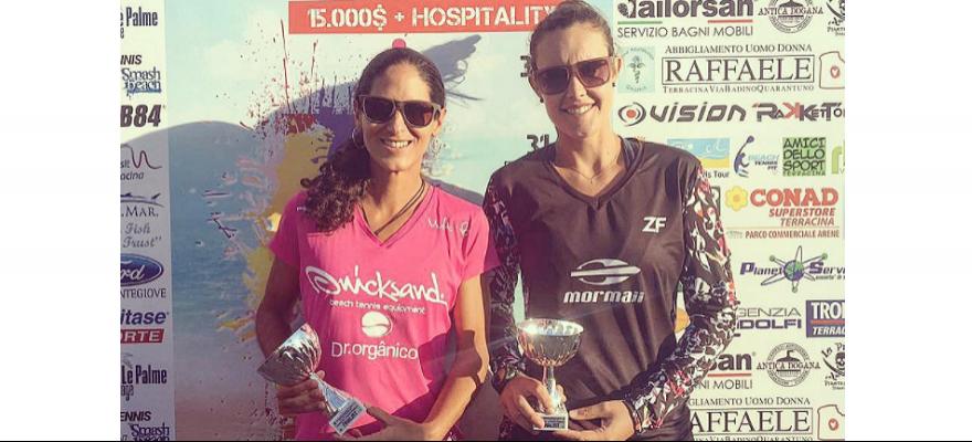 Joana Cortez e Rafaella Miiller são vice-campeãs em Terracina