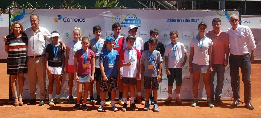 Definidos os campeões de 12 e 14 anos no Circuito Nacional, em Brasília