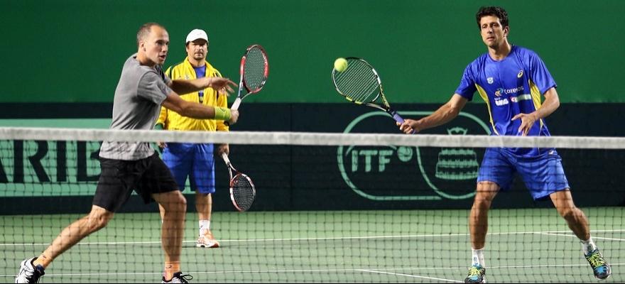 Brasil finaliza segundo dia de treinos nas quadras cobertas, em Osaka