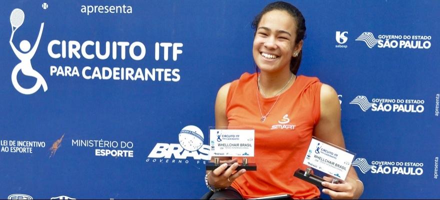 Brasiliense vence na categoria Feminino no Circuito ITF para Cadeirantes