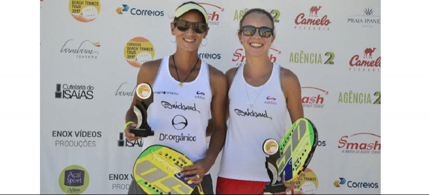 Cortez e Melo são campeãs no Correios Beach Tennis - Copa Smash Brasil