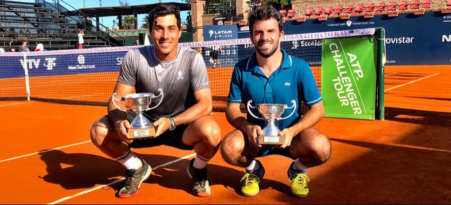 Romboli vence De Paula e é campeão de duplas no Uruguai