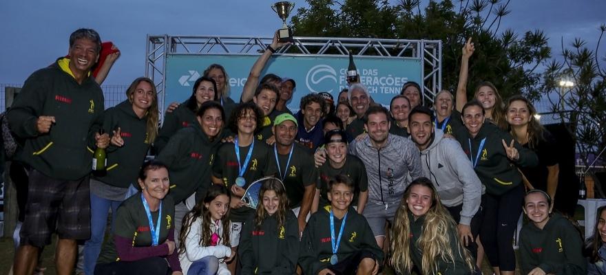 Rio Grande do Sul é bicampeão da Copa das Federações de Beach Tennis