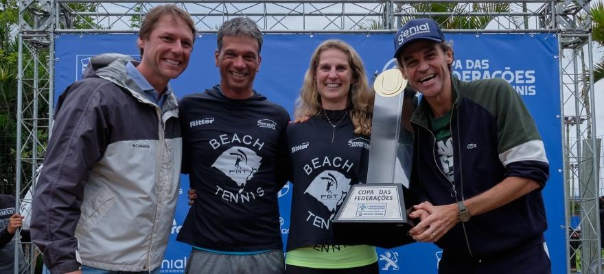Domingo coroa campeões da Copa das Federações de Beach Tennis e do Torneio de TCR