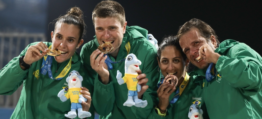 Brasil conquista ouro, prata e bronze nos Jogos Mundiais de Praia