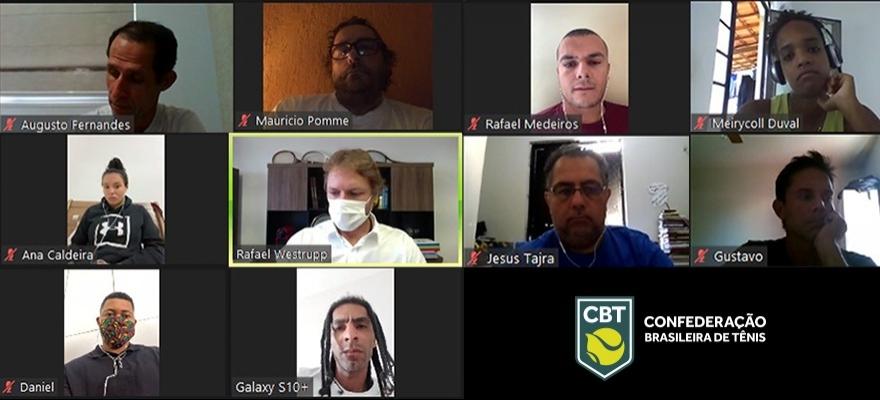 CBT faz reuniões online com atletas do Beach Tennis e do Tênis em Cadeira de Rodas