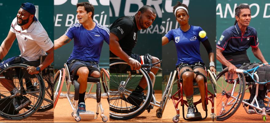 Cinco tenistas brasileiros estão classificados para as Paralimpíadas de Tóquio